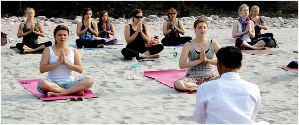 Meditation session rishikesh