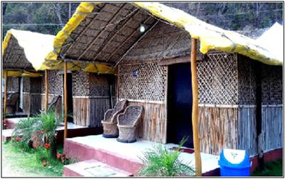 Bamboo cottages Camping at Rishikesh